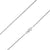 925 Sterling Silver 1.2mm Solid  Rope Diamond Cut Silver Chain