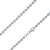 925 Sterling Silver 4mm Moon Cut Bead Ball Rhodium Chain