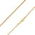 925 Sterling Silver 1.5mm Franco Wheat Gold Plated Chain