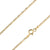 925 Sterling Silver 1.7mm Flat Mariner Gucci Gold Plated Chain