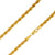 925 Sterling Silver 4.5mm Rope Diamond Cut Gold Plated Chain