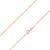 925 Sterling Silver 0.7mm Box Chain Rose Gold Plated Chain