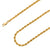 925 Sterling Silver 4mm Rope Diamond Cut Gold Plated Chain