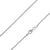 925 Sterling Silver 1mm Spiga Wheat Diamond Cut Chain