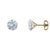 14k Yellow Gold Brilliant Round Martini Setting Studs