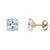 14k Yellow Gold Princess Martini Setting Studs