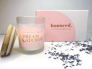 Dream Catcher Bundle - 8oz Candle + White Silk Pillowcase