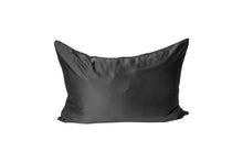Load image into Gallery viewer, bounced. mulberry silk pillowcase - charcoal