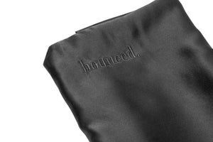 bounced. mulberry silk pillowcase - charcoal