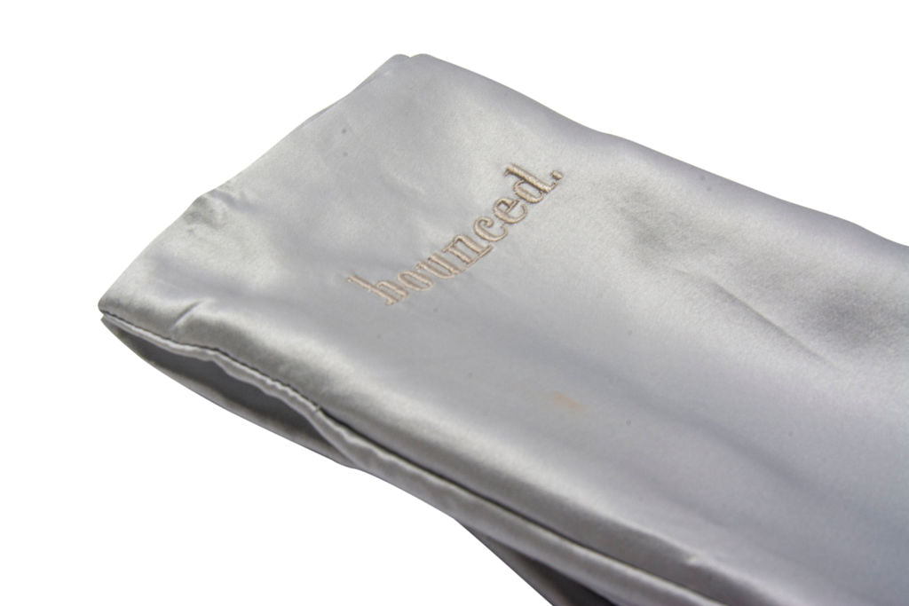 bounced. mulberry silk pillowcase - silver