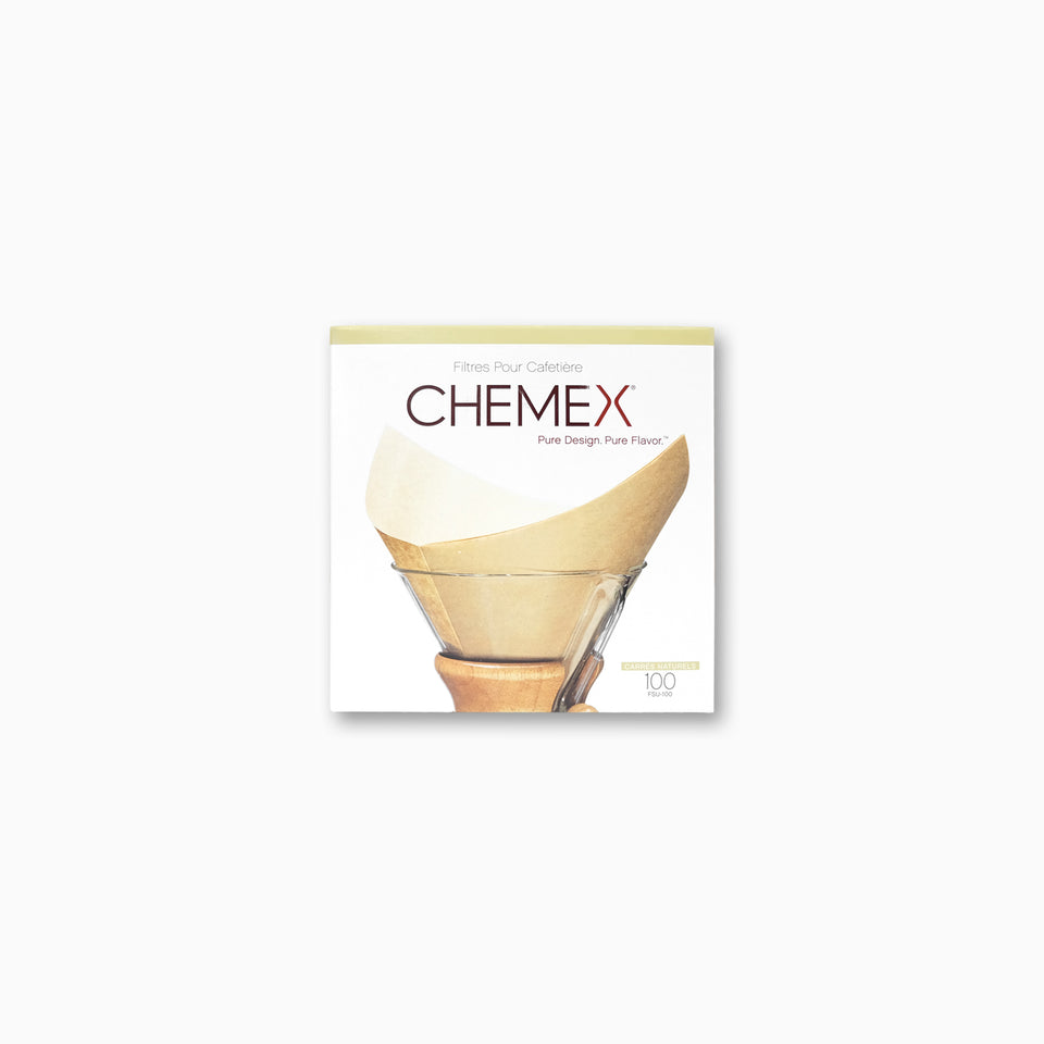 Chemex 6-8 Cup Filter Papers (Pre-Folded - Unbleached)