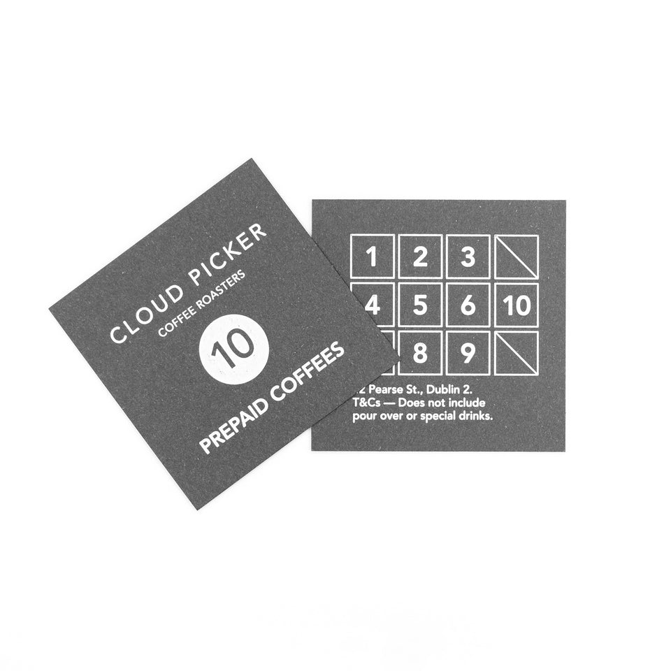 Prepaid Coffee Card
