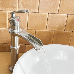 BWE A-96571 Single Handle Bathroom Faucet Full Kit (Tall/Short)