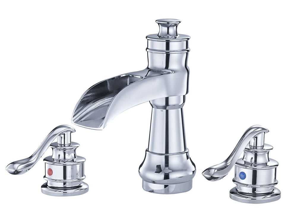 BWE A-96558-S Dual Handle Bathroom Faucet Full Kit