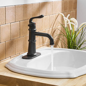 BWE A-96565 Single Handle Bathroom faucet (Full Kit, Tall/Short)