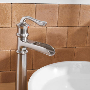 BWE A-96560 Single Handle Bathroom Faucet Full Kit (Tall/Short)