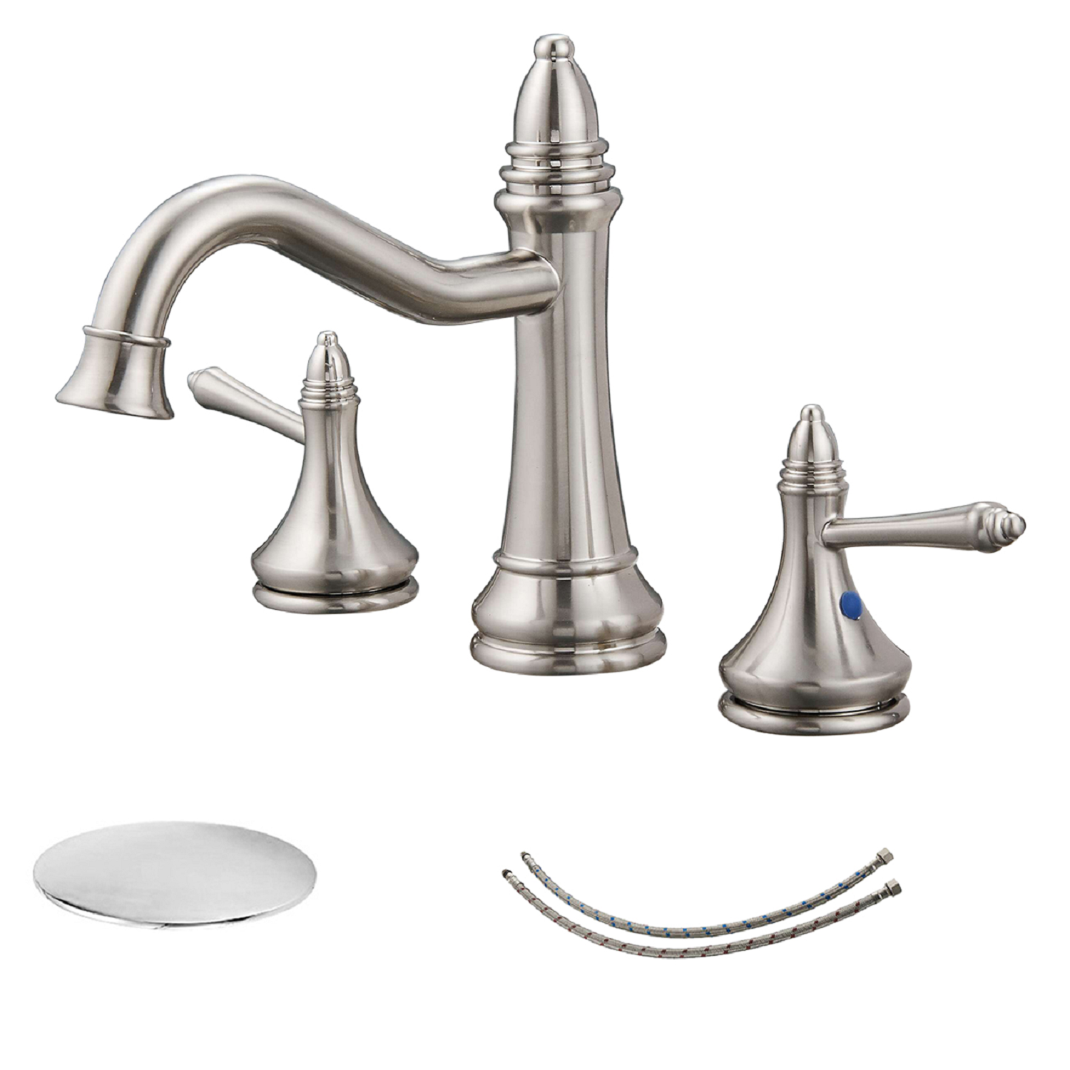 BWE A-916436 Dual Handle Bathroom Faucet (Full Kit)