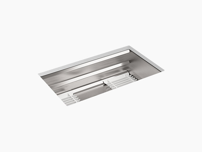 "Prolific®33"" x 17-3/4"" x 10-15/16"" Undermount kitchen sink with accessories"