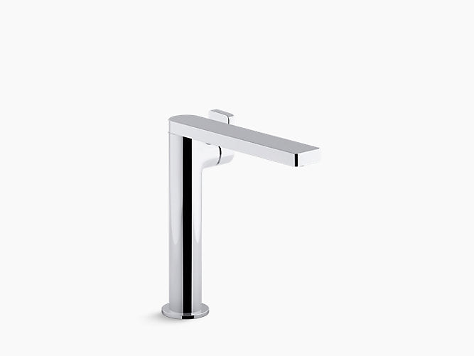 Composed® Tall Single-handle bathroom sink faucet with lever handle