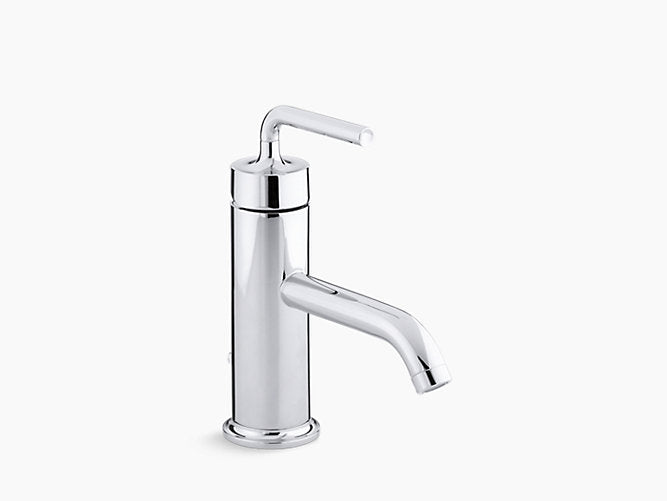 Purist® Single-handle bathroom sink faucet with straight lever handle