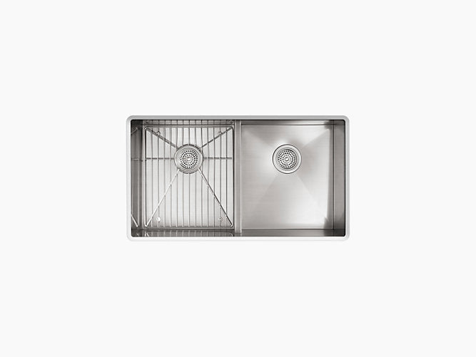 "Vault™33"" x 22"" x 9-5/16"" Smart Divide® top-mount/undermount double-equal bowl kitchen sink"