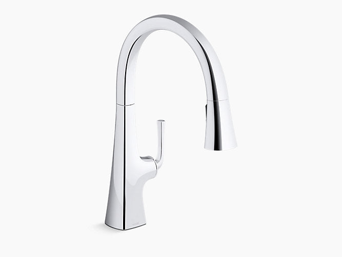 Graze™ Pull-down kitchen sink faucet with three-function sprayhead