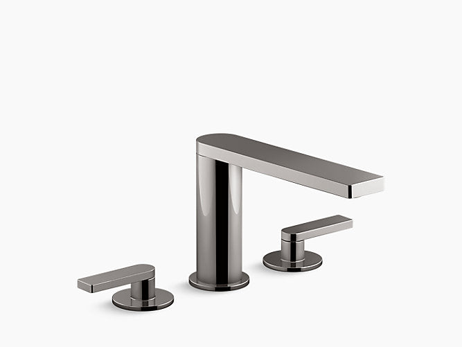 Composed® Widespread bathroom sink faucet with lever handles