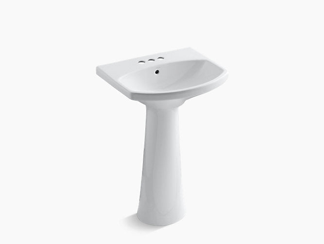 "Cimarron® Pedestal bathroom sink with 4"" centerset faucet holes"