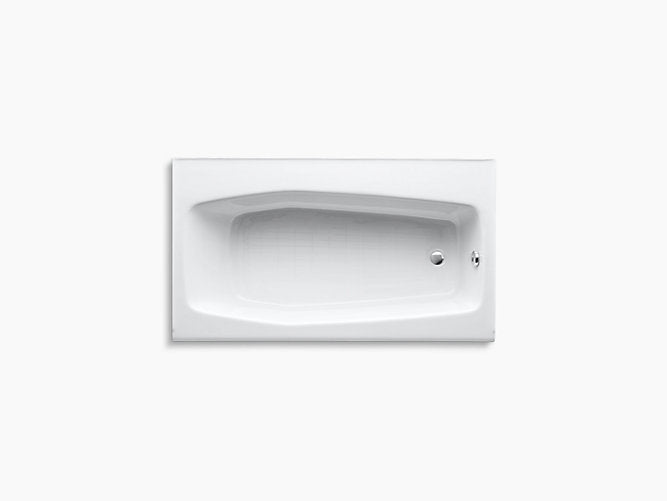 "Villager® 60""L x 34""W alcove bath with right-hand drain"