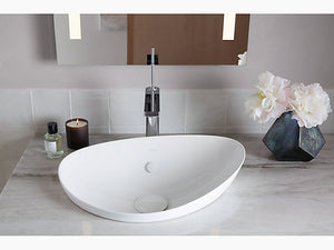 Veil™ Vessel bathroom sink with pop up drain