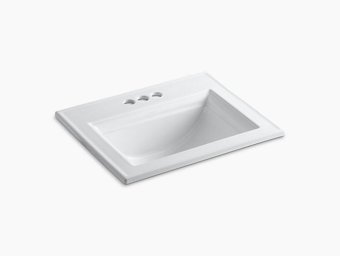 "Memoirs® Stately Drop-in bathroom sink with 4"" centerset faucet holes"