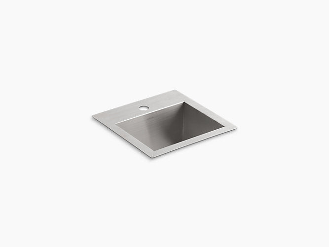 "Vault™15"" x 15"" x 9-5/16"" Top-mount/undermount bar sink with single faucet hole"