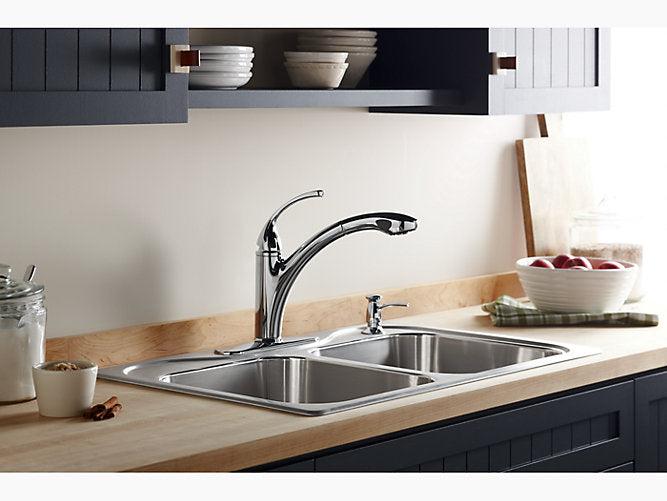 "Forté®single-hole or 3-hole kitchen sink faucet with 10-1/8"" pull-out spray spout"
