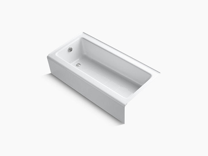"Bellwether® 60""L x 30""W Alcove Bath Tub with Integral apron and left hand drain"