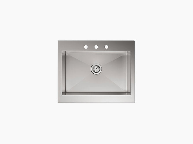 "Vault™29-3/4"" x 24-5/16"" x 9-5/16"" Self-Trimming® top-mount stainless steel apron-front kitchen sink for 30"" cabinet"