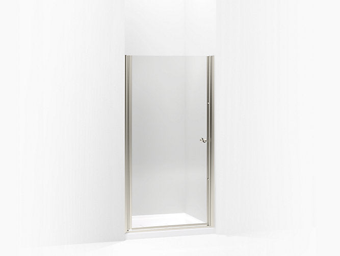 "Fluence® 65 1/2""H x (36 1/2"" - 37 3/4"" W) Pivot Shower Door with 1/4"" thick tempered glass"