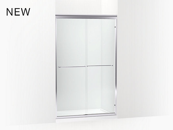 "Fluence® 75 23/32""H x (49""-52""W) Sliding Shower Door with 1/4"" Thick Tempered Glass"