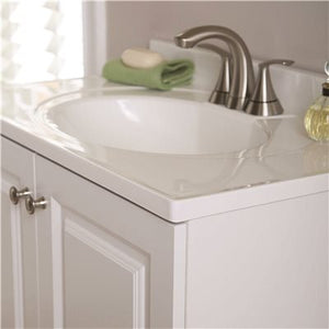 Glacier Bay Lancaster 30 in. W x 19 in. D Bathroom Vanity in White with Cultured Marble Vanity Top in White with White Basin