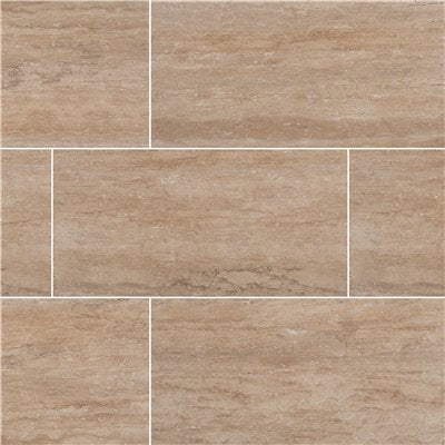 MSI Trevi Beige 12 in. x 24 in. Matte Porcelain Floor and Wall Tile (16 sq. ft. / case)
