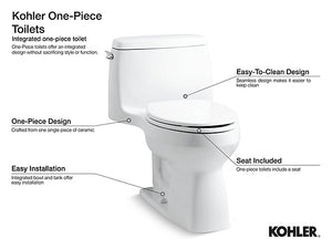 "Reach Up ""One-Piece"" Elongated Toilet (Hidden Trapway Design)"