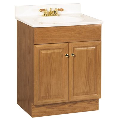 RSI 24 in. L x 31 in. T x 18 in. W Richmond Bathroom Vanity Cabinet with Top with 2-Door in White