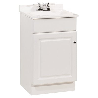 RSI Richmond 18-1/2 in. W x 16-1/4 in. D Bath Vanity in White with Cultured Marble Vanity Top