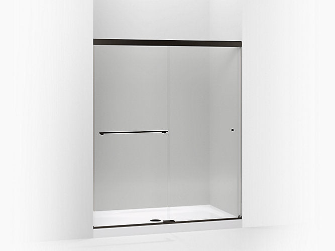 "Revel® Sliding shower door (56 5/8"" - 59 5/8"" W) with Premium 5/16"" thick clear glass"