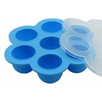 Reusable Silicone Baby Food Freezer Tray container with Lid
