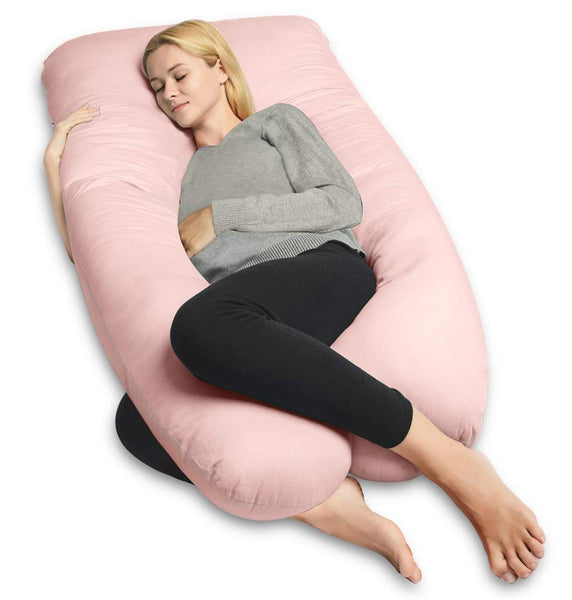 U-Shape Full Body Maternity Support Pregnancy Pillow (Pink or Grey)
