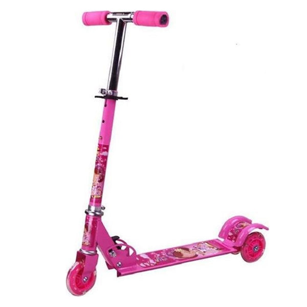 Kids Play Kick Scooter with 2 rear wheels for stability! (Pink or Blue)