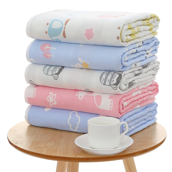 Muslin Baby Swaddle Blanket - 100% Cotton & 6 Layers