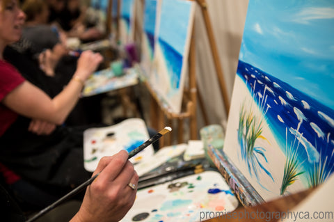 Painting Party Art Class Salmon Arm Meikle Studios Date Night