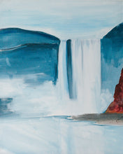 "Load image into Gallery viewer, Meikle Studios | Painting called ""Icelandic Waterfall"""