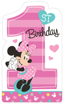 Disney Minnie's Fun To Be One Postcard Invitations